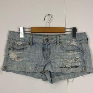 3/$30 American Eagle Distressed Denim Shorts Sz 6